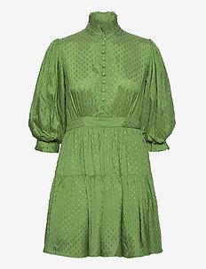Delicate Mini Tulle Dress - korte kjoler - green dots