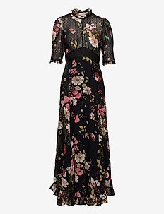 Delicate Semi Lace Gown - maxi kjoler - flowers