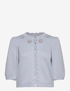 Soft Knit Jacket - koftor - light blue