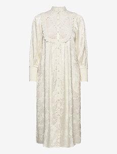 Jacquard Lace Shift Dress - midiklänningar - vintage