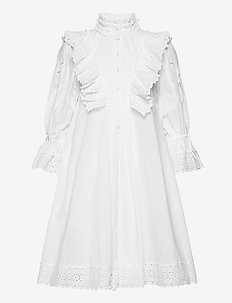 Cotton Slub Shift Dress - sommerkjoler - white