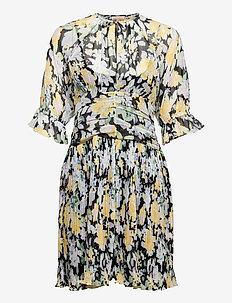 Chiffon Plisse Mini Dress - sommerkjoler - blooming