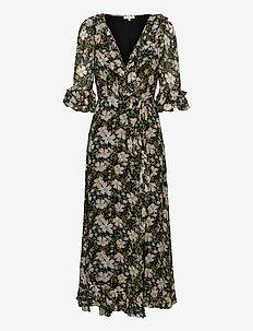 Georgette Wrap Dress - robes d'été - black field