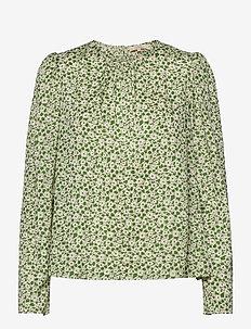 Delicate Top - langærmede bluser - green garden