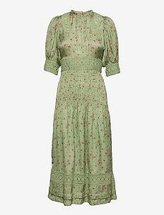 Satin Lace Midi Dress - hverdagskjoler - rose field