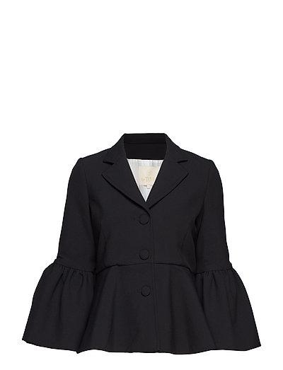 Tailored Flared Sleeve Blazer - 099 BLACK