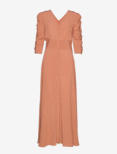 Summer Rouching Gown - evening dresses - polkadots