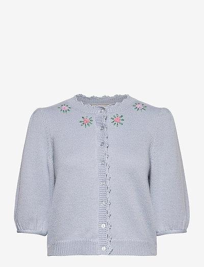 Soft Knit Jacket - cardigans - light blue