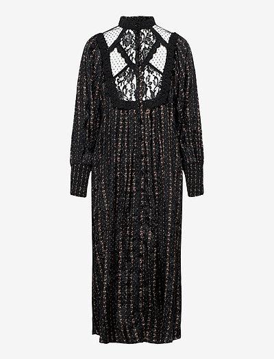 Jacquard Lace Shift Dress - summer dresses - vintage rose