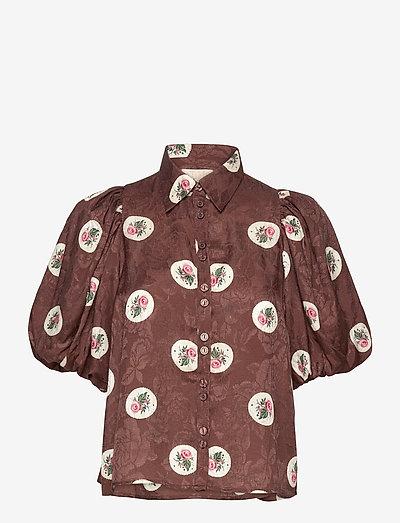 Jacquard Shirt - kortærmede bluser - roses
