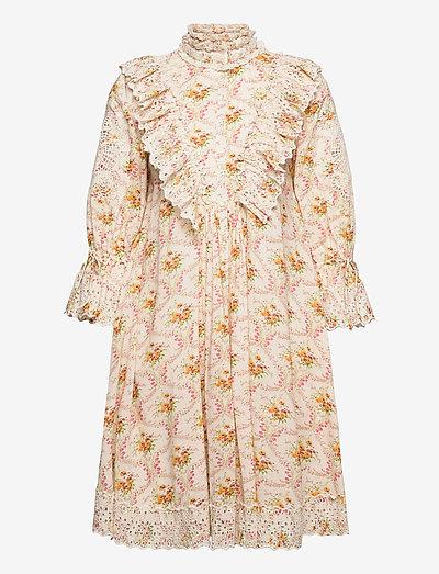 Cotton Slub Shift Dress - midi-kleider - wallpaper
