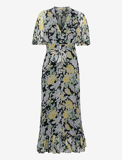 Chiffon Plisse Gown - maxi dresses - blooming
