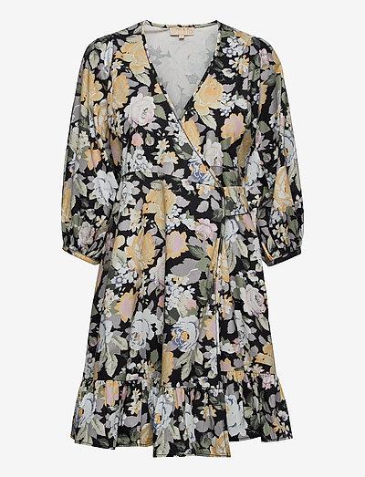 Structured Cotton Wrap Dress - zomerjurken - blooming