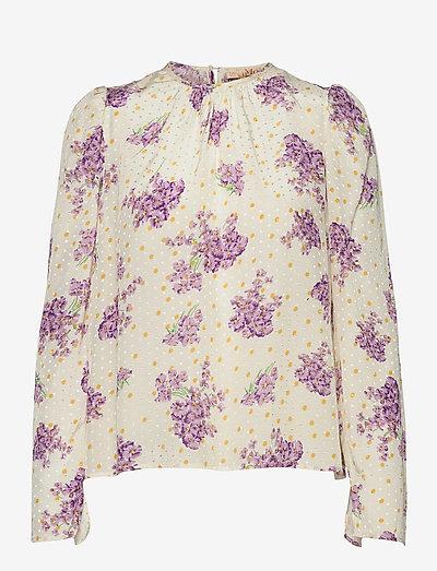Delicate Top - langærmede bluser - sunny flowers