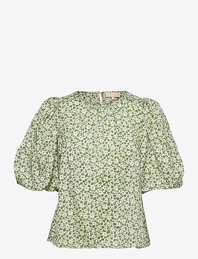 Delicate Blouse - blouses met korte mouwen - green garden