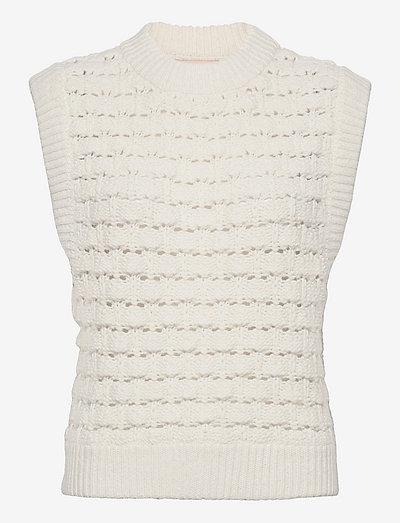 Cotton Knit Vest - strikkevester - vintage