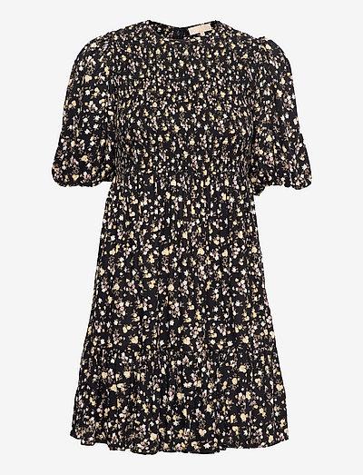 Smocking Puffed Mini Dress - zomerjurken - blossom