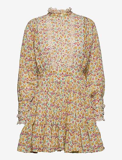 Cotton Slub Mini Dress - alledaagse jurken - flower garden