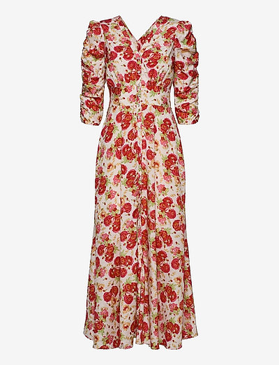 Delicate Rouching Dress - zomerjurken - rose garden