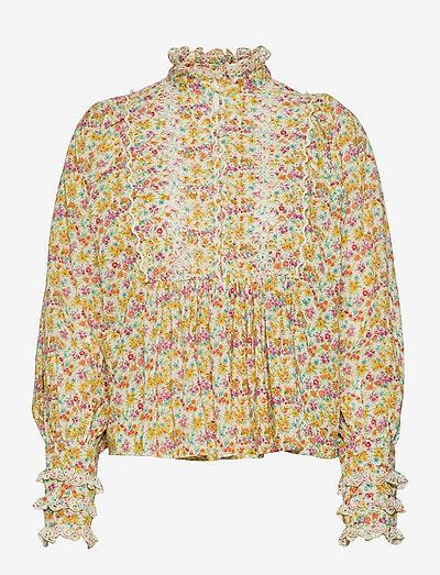 Cotton Slub Blouse - blouses met lange mouwen - flower garden