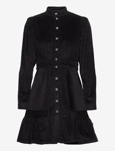 Corduroy Mini Dress - sommerkjoler - black