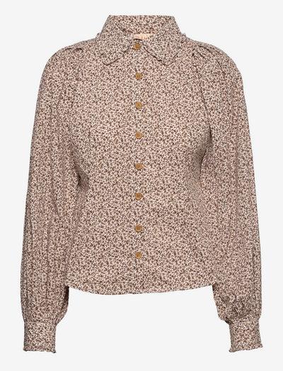 50's Cotton Shirt - denimskjorter - petite flowers