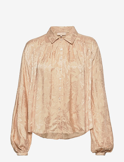 Jacquard Shirt - long sleeved blouses - sand