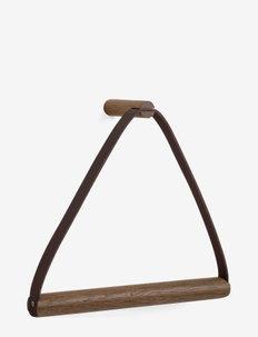 Towel Hanger, røget egetræ - knager & knagerækker - smoked
