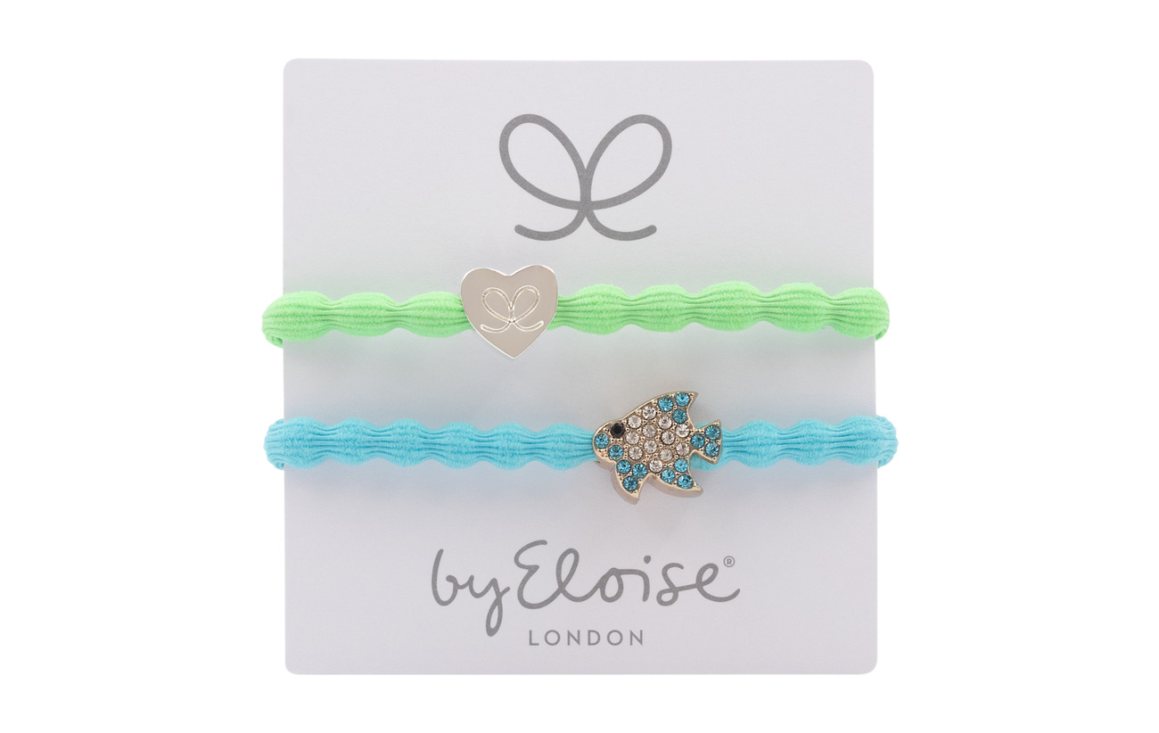 ByEloise Silver Heart/Lime Green and Bling Tropical Fish/Neon Blue - LIME GREEN/NEON BLUE