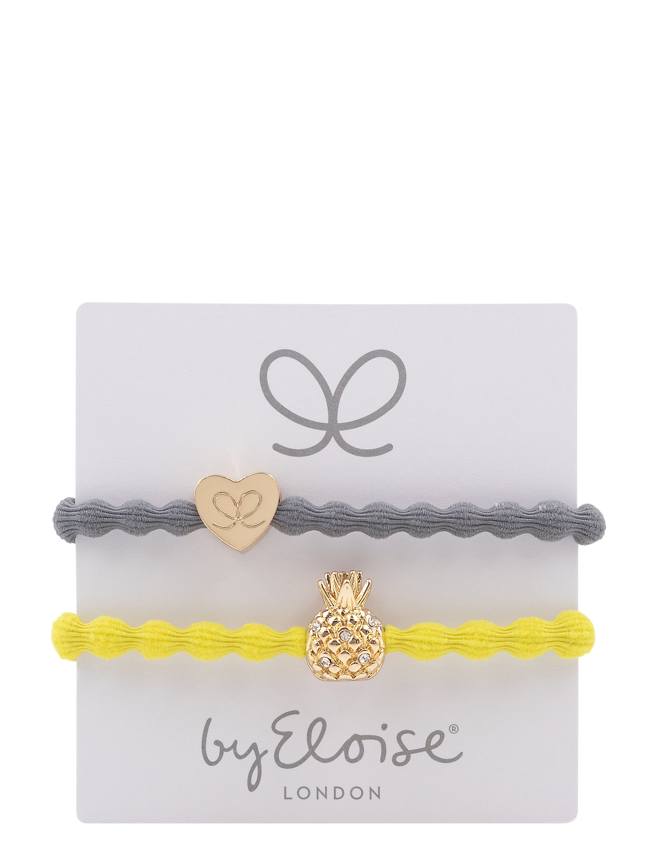 Gold Heart/Storm Grey And Bling Pineapple/Sunshine Yellow - ByEloise