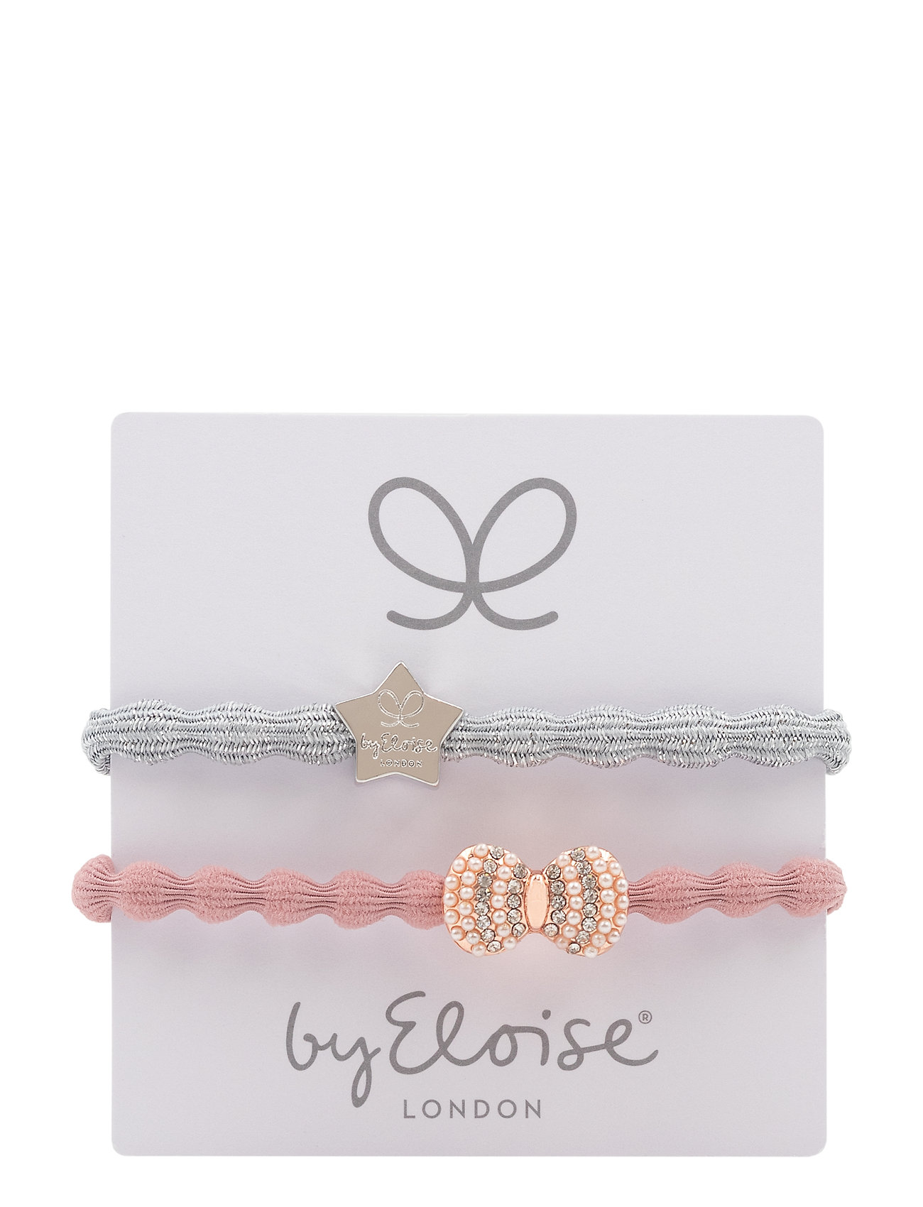 Silver Star/Silver Metallic And Bling Bow/Champagne Pink - ByEloise