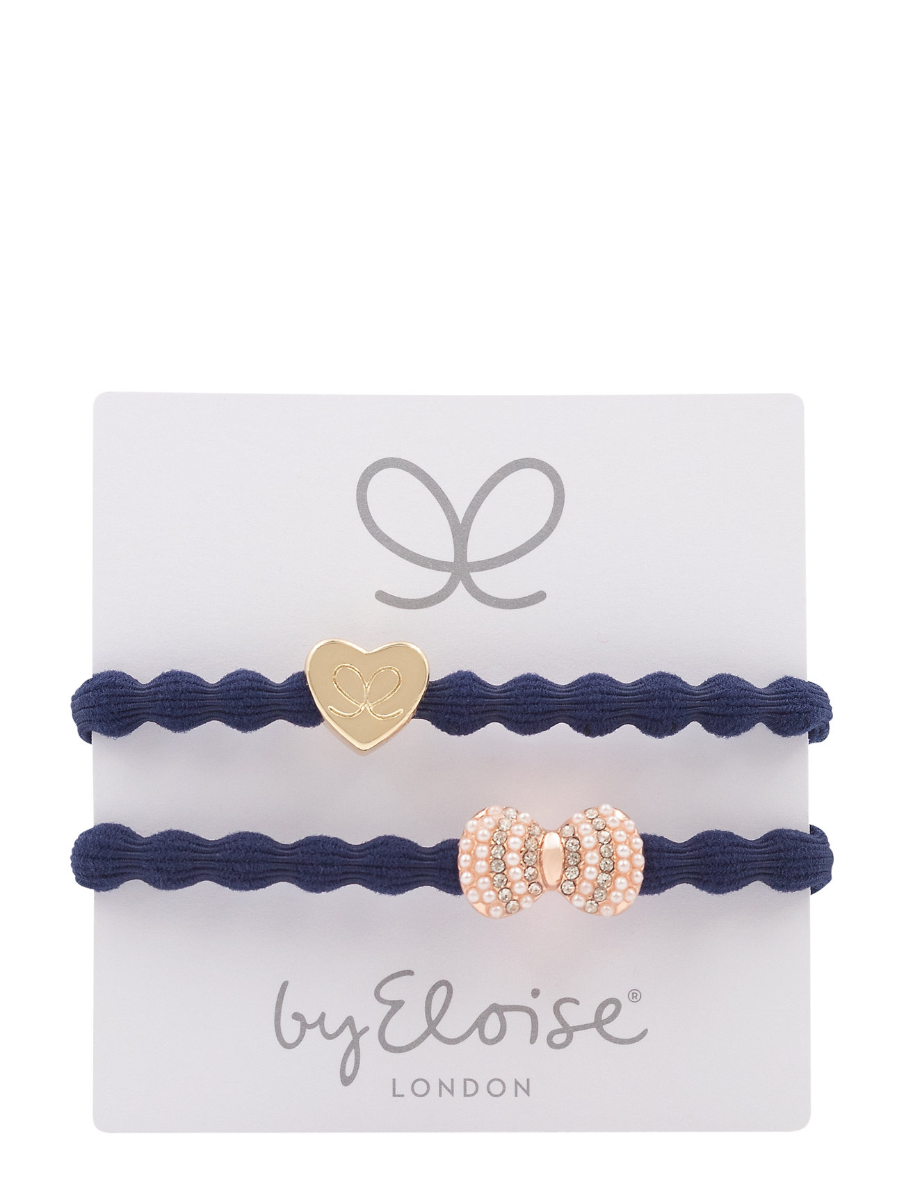 Gold Heart On Navy And Bling Bow On Navy - ByEloise