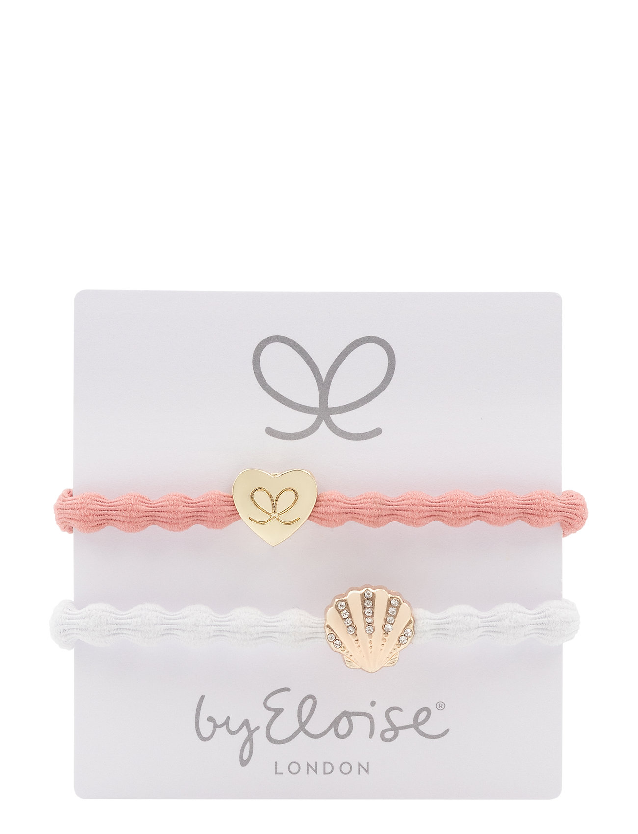 Gold Heart On Coral And Bling Seashell On White - ByEloise