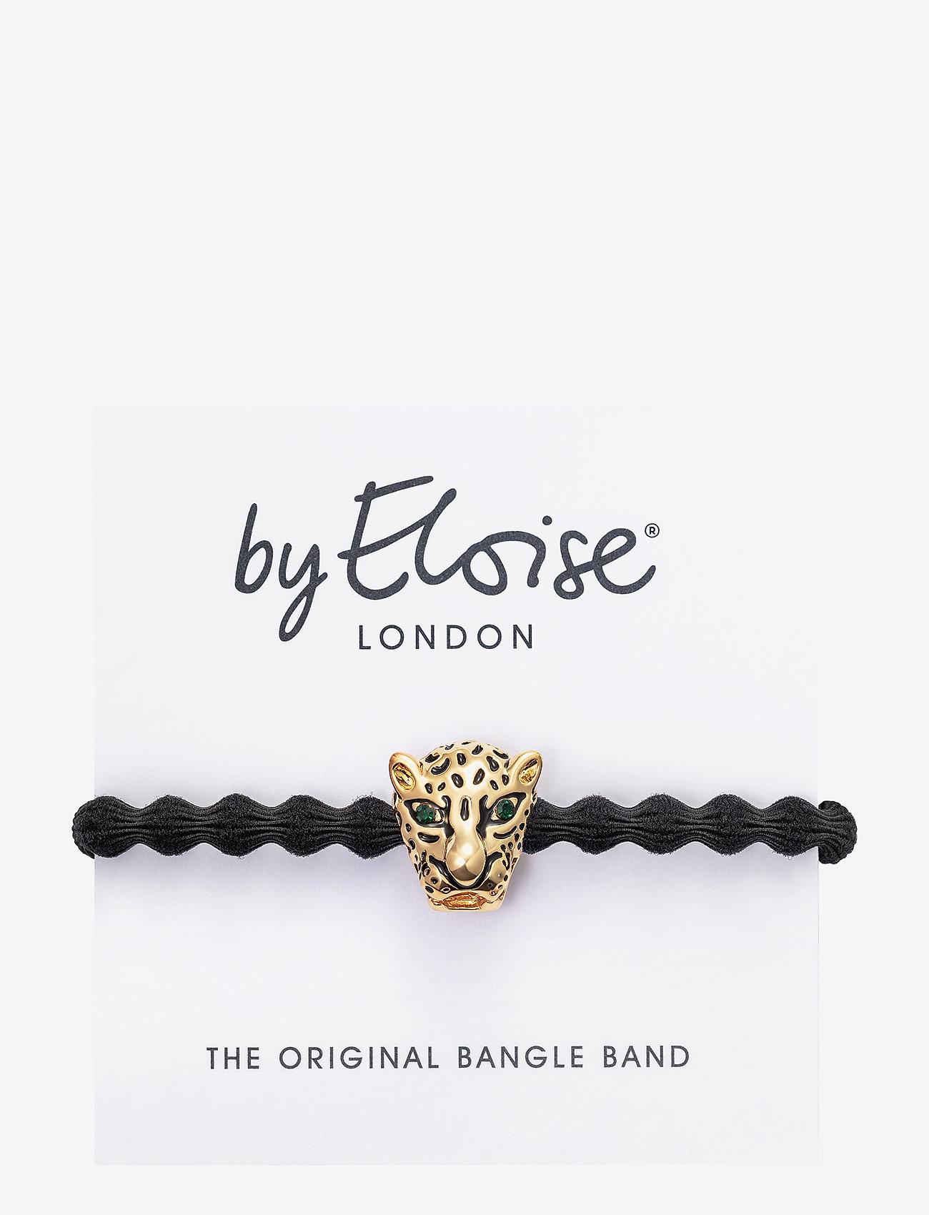 ByEloise - Gold Jaguar on Black - håraccessoarer - black - 1