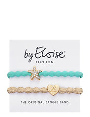Starfish Turquoise and Gold Heart Metallic Gold - TURQUOISE BLUE/GOLD