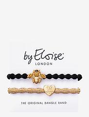ByEloise - Bling Bee Black Gold Heart Metallic Gold - håraccessoarer - metallic gold/black - 1