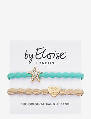 ByEloise - Starfish Turquoise and Gold Heart Metallic Gold - accessories - turquoise blue/gold - 1