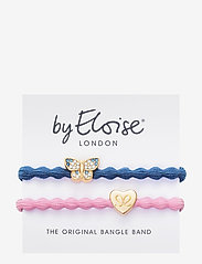 ByEloise - Bling Butterfly Dove Blue and Gold Heart Ballet Pink - hår accessories - blue/pink - 0