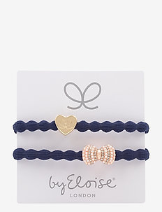 Gold Heart on Navy and Bling Bow on Navy - NAVY/NAVY
