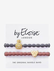 Pineapple Storm Grey and Gold Heart Champagne Pink - hår accessories - grey/pink
