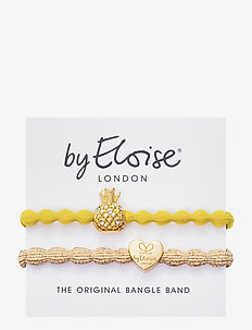 Pineapple Sunshine Yellow and Gold Heart Metallic Gold - hår accessories - yellow/gold
