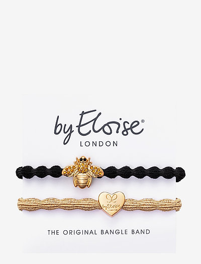 Bling Bee Black Gold Heart Metallic Gold - accessories - metallic gold/black