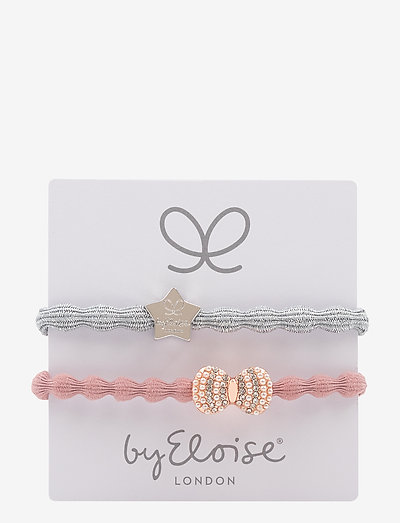 Silver Star/Silver Metallic and Bling Bow/Champagne Pink - hiusasusteet - metallic silver/champagne pink