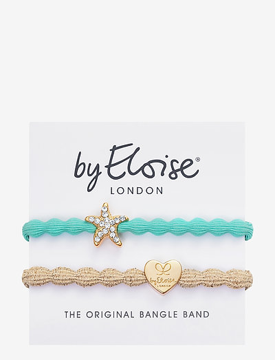 Starfish Turquoise and Gold Heart Metallic Gold - accessories - turquoise blue/gold