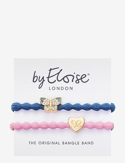 Bling Butterfly Dove Blue and Gold Heart Ballet Pink - accessories - blue/pink