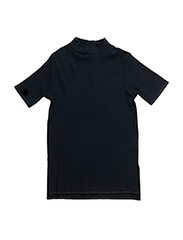 Rib turtleneck tee - DARK NAVY