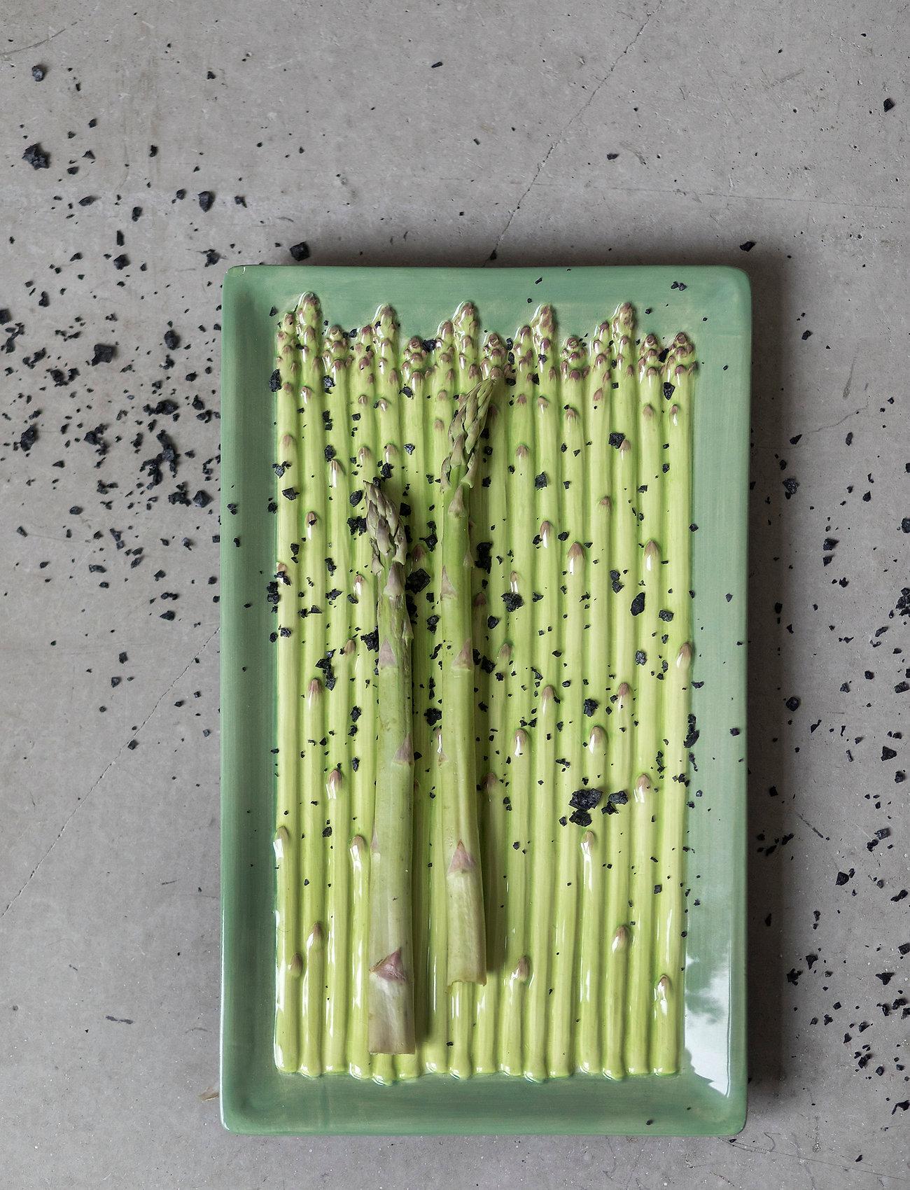 ByOn - Plate Asparagus - serveringsfat - green - 1