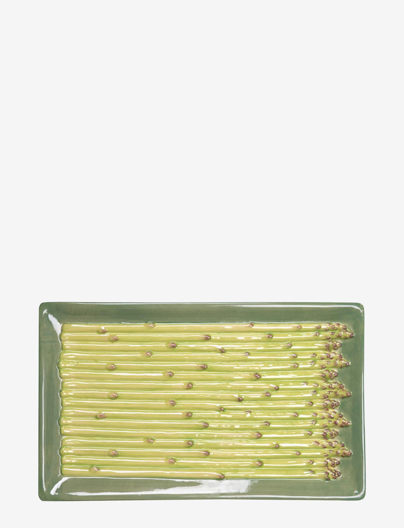 ByOn - Plate Asparagus - serveringsfat - green - 0
