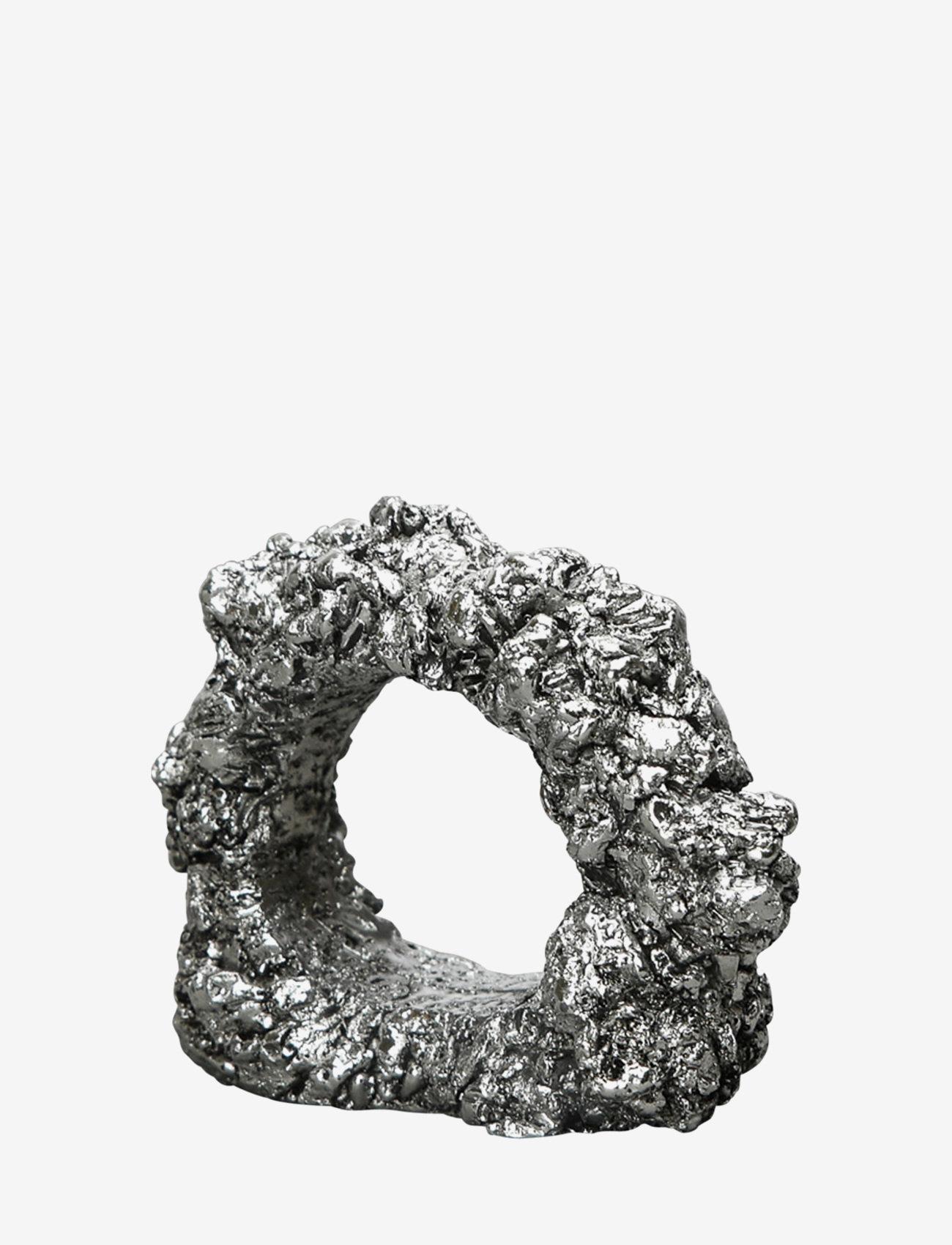 ByOn - Napkin ring Minerale - serviettringer & serviettholdere - silver - 0