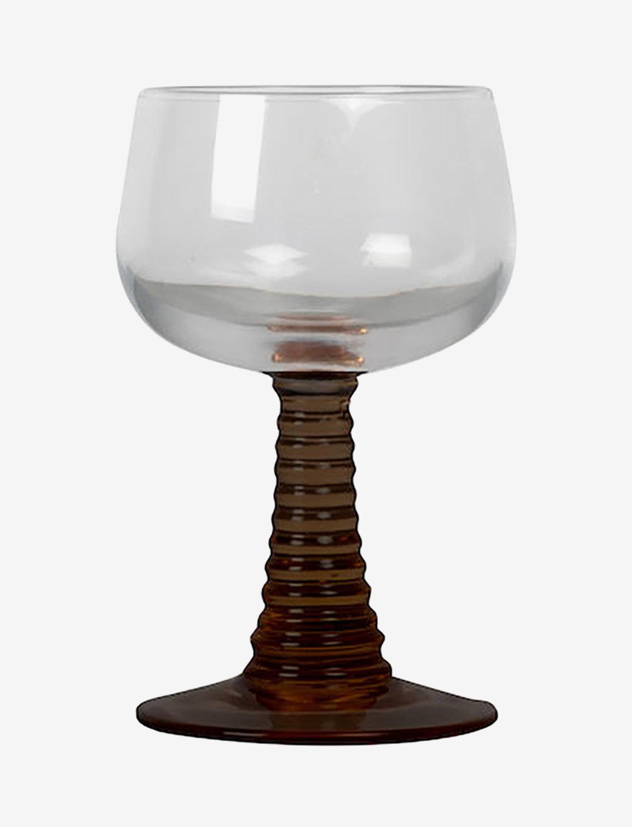 ByOn - Wine glass Ewa - vinglass - clear/brown - 0